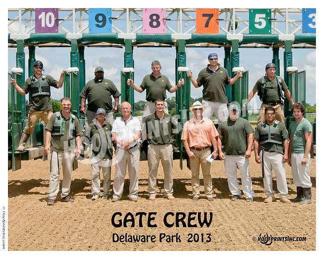 gate crew at Delaware Park on 7/13/13