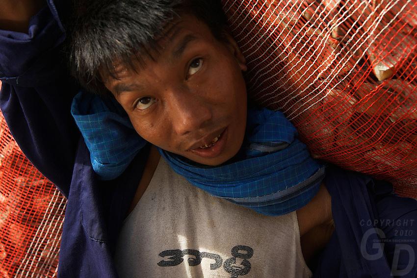 Hard working at the Yangon Jetty Myanmar