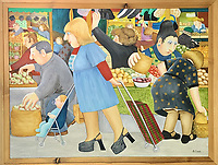 Discovered - Painting by artist Beryl Cook that inspired the Les Dawson advert for the Post Office