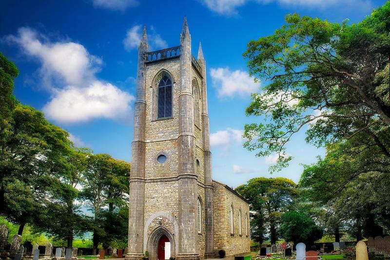 St. Columba's Church, Church of Ireland. Where William Butler Yeats is burried. Ireland