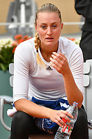 11th October 2020, Roland Garros, Paris, France; French Open tennis, Womens Doubles final 2020; Timea BabHun and Kristina Mladenovic Fra reflects upon the win