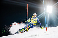 22nd December 2020, Madonna di Campiglio, Italy; FIS Mens slalom world cup race;  Alex Vinatzer of Italy in action during his 1st run of mens Slalom