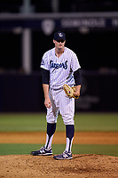 Tampa Tarpons pitcher Derek Craft (40) during a game against the Lakeland Flying Tigers on June 1, 2021 at George M. Steinbrenner Field in Tampa, Florida.  (Mike Janes/Four Seam Images)