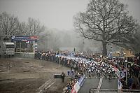 Elite Men's Start<br /> <br /> Grand Prix Adrie van der Poel, Hoogerheide 2016<br /> UCI CX World Cup