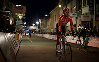 surprise rider today: World Tour road cyclist Kenny De Haes (BEL/Lotto-Soudal) having a go at cyclocross in Diegem<br /> <br /> Superprestige Diegem 2015
