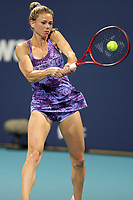 MIAMI GARDENS, FL - MARCH 24: Camila Giorgi seen playing on day 3 of the Miami Open on March 24, 2021 at Hard Rock Stadium in Miami Gardens, Florida<br /> <br /> <br /> People:  Camila Giorgi