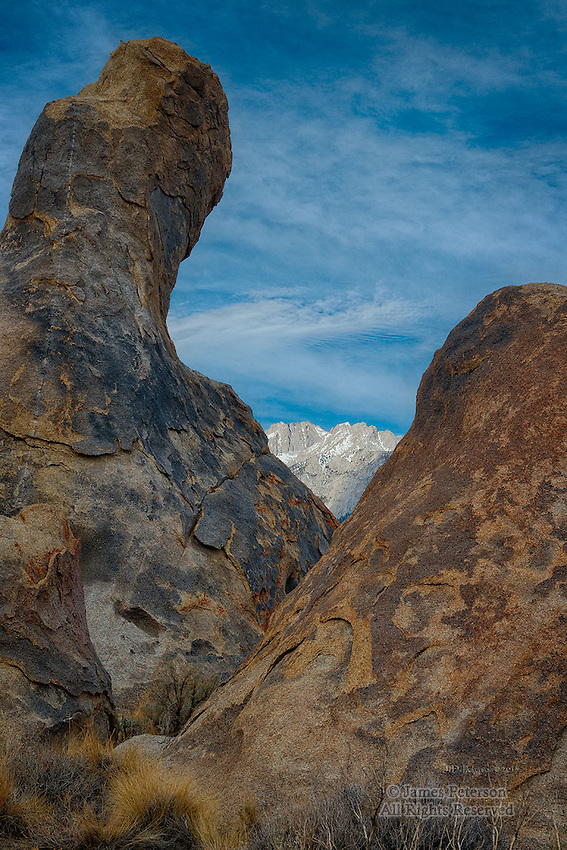 Sierra Nevada Range from Alabama Hills, California
