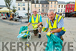 Tim Guiheen and Joe Moynihan (Tidy Tralee Together) are pleading with people to dispose of their facemasks responsibly.