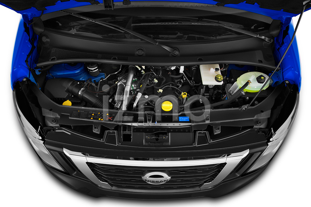 Car Stock 2021 Nissan NV400 Acenta 2 Door Chassis Cab Engine  high angle detail view