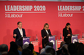 Kier Starmer, Rebecca Long Bailey, Lisa Nandy, Labour Party leadership hustings, Islington, London.