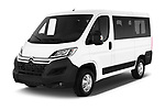2017 Citroen Jumper Combi Confort 4 Door Combi angular front stock photos of front three quarter view