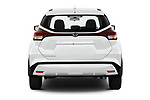 Straight rear view of 2021 Nissan Kicks - 5 Door SUV Rear View  stock images