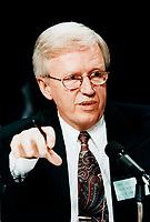 Paul Leduc, Mayor of Brossard seen here in a May 1997  file photo<br /> annouced this July 2014 the he is suuing Fatima Houda-Pepin and Alphone Lepage for libel.<br /> <br /> File Photo : Agence Quebec Presse - Agence Quebec Presse
