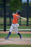 Houston Astros Michael Papierski (64) bats during a Minor League Spring Training Intrasquad game on March 28, 2019 at the FITTEAM Ballpark of the Palm Beaches in West Palm Beach, Florida.  (Mike Janes/Four Seam Images)