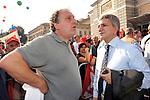 PAOLO CENTO  E NICHI VENDOLA<br /> MANIFESTAZIONE PER LA LIBERTA' DI STAMPA PROMOSSA DAL FNSI<br /> PIAZZA DEL POPOLO ROMA 2009
