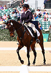 April 24, 2014: Tsunami and Sarah Cousins compete in Dressage at the Rolex Three Day Event in Lexington, KY at the Kentucky Horse Park.  Candice Chavez/ESW/CSM