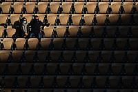9th October 2020, Roland Garros, Paris, France; French Open tennis, Roland Garr2020;   Spectators attend the semifinal between Rafael NADAL ESP and Diego SCHWARTZMAN ARG in the Philippe Chatrier court during the Semifinal of the French Open tennis tournament at Roland Garrin Paris
