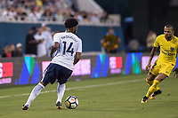 Orlando, FL - Saturday July 22, 2017: Georges-Kevin Nkoudou during the International Champions Cup (ICC) match between the Tottenham Hotspurs and Paris Saint-Germain F.C. (PSG) at Camping World Stadium.