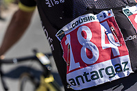 Jérôme Cousin (FRA/Direct Energie) wearing the combativity  number.<br /> <br /> Stage 5: Lorient > Quimper (203km)<br /> <br /> 105th Tour de France 2018<br /> ©kramon