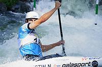 5th September 2021; Parc Olimpic del Segre, La Seu D'Urgell ICF Slalom World Cup, Men's Canoe Final;  Nicolas Gestin (FRA)