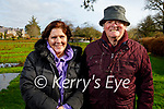 Enjoying a stroll in the Tralee town park on Thursday, l to r: Marion and Johnny Kelliher.