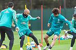 16.10.2020, Trainingsgelaende am wohninvest WESERSTADION - Platz 12, Bremen, GER, 1.FBL, Werder Bremen Abschlusstraining<br /> <br /> <br /> <br /> Ömer / Oemer Toprak (Werder Bremen #21)<br /> Yuya Osako (Werder Bremen #08)<br /> <br /> Foto © nordphoto / Kokenge