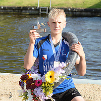 FIERLJEPPEN: WINSUM: 04-09-2021, FK Fierljeppen, Germ Terpstra, ©foto Martin de Jong