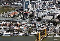 aerial photograph old town Sacramento, California