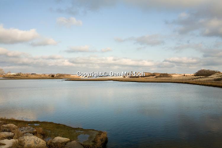 Saltwater marsh, Waterford, CT overlooking New London Harbor