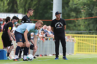 Head coach Felice Mazzu pictured during a preseason friendly soccer game between Tempo Overijse and Royale Union Saint-Gilloise, Saturday 29th of June 2021 in Overijse, Belgium. Photo: SPORTPIX.BE   SEVIL OKTEM