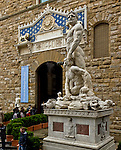 The front entrance to the Palazzo Veddhio