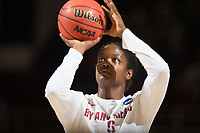STANFORD, CA - March 17, 2018: Nadia Fingall at Maples Pavilion. The Stanford Cardinal defeated the Gonzaga Bulldogs 82-68 to advance to the second round of the NCAA tournament.