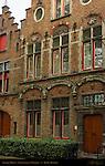 Baroque House, Stoofstraat at Walplein, Bruges, Brugge, Belgium
