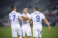 Commerce City, Colorado - Tuesday, October 6, 2015: The USMNT U-23 takes on Panama during the 2016 CONCACAF OLYMPIC QUALIFYING game at Dick's Sporting Goods Park.