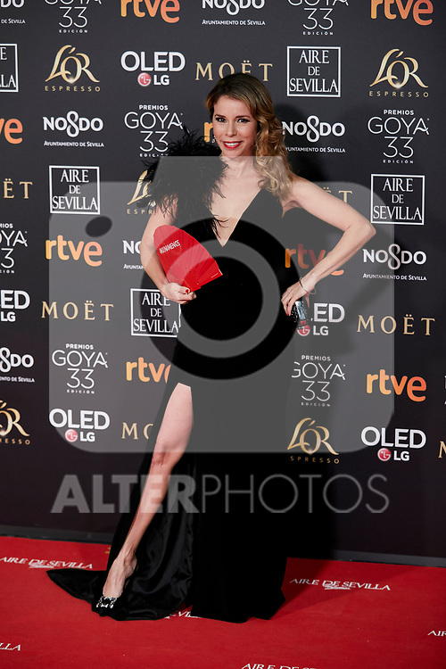 Athenea Mata attends to 33rd Goya Awards at Fibes - Conference and Exhibition  in Seville, Spain. February 02, 2019. (ALTERPHOTOS/A. Perez Meca)
