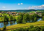 Deutschland, Bayern, Oberpfalz, Naturpark Oberer Bayerischer Wald, Koetztinger Land, Dorf Miltach: Kanufahrt auf dem Regen | Germany, Bavaria, Upper Palatinate, Nature Park Upper Bavarian Forest, village Miltach: canoeing at river Regen