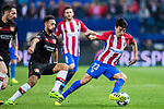 Nicolas Gaitan of Atletico de Madrid battles for the ball with Karim Bellarabi of Bayer 04 Leverkusen during their 2016-17 UEFA Champions League Round of 16 second leg match between Atletico de Madrid and Bayer 04 Leverkusen at the Estadio Vicente Calderon on 15 March 2017 in Madrid, Spain. Photo by Diego Gonzalez Souto / Power Sport Images