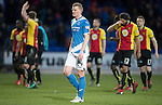 St Johnstone v Partick Thistle…11.02.17     Scottish Cup    McDiarmid Park<br />Brian Easton trudges off at full time<br />Picture by Graeme Hart.<br />Copyright Perthshire Picture Agency<br />Tel: 01738 623350  Mobile: 07990 594431
