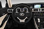 Steering wheel view of a 2014 Lexus IS 250 Sedan