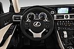 Steering wheel view of a 2014 Lexus IS 250 Sedan