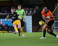 2nd October 2020; Tannadice Park, Dundee, Scotland; Scottish Premiership Football, Dundee United versus Livingston; Alan Forrest of Livingston fires in a shot on goal