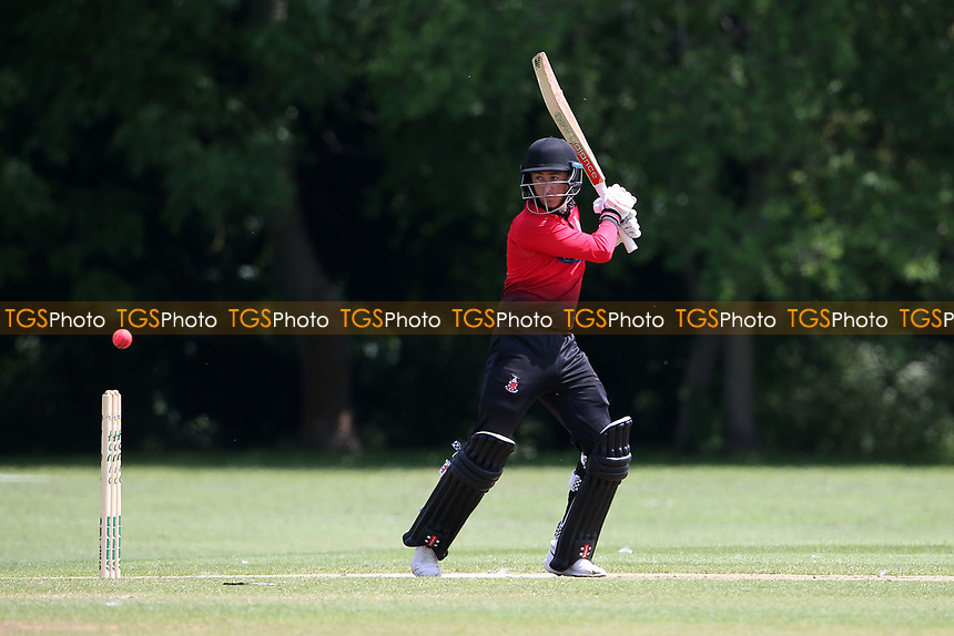 R Saunders in batting action for Hornchurch during Hornchurch CC vs Harold Wood CC, Hamro Foundation Essex League Cricket at Harrow Lodge Park on 5th June 2021