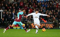 Ki Sung-Yueng of Swansea City during the Barclays Premier League match between Swansea City and West Ham United played at The Liberty Stadium, Swansea on 20th December 2015