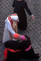 Pope Benedict XVI benediction in Saint Peter's Square at the Vatican April 8, 2008