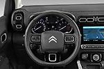 Car pictures of steering wheel view of a 2022 Citroen C3-Aircross Shine 5 Door SUV Steering Wheel