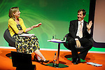 Former Downing St spin doctor Alastair Campbell and BBC Radio 4 Today programme presenter Sarah Montague at NHS Confederation Annual Conference and Exhibition 2009, BT Convention Centre Liverpool, 11.06.09