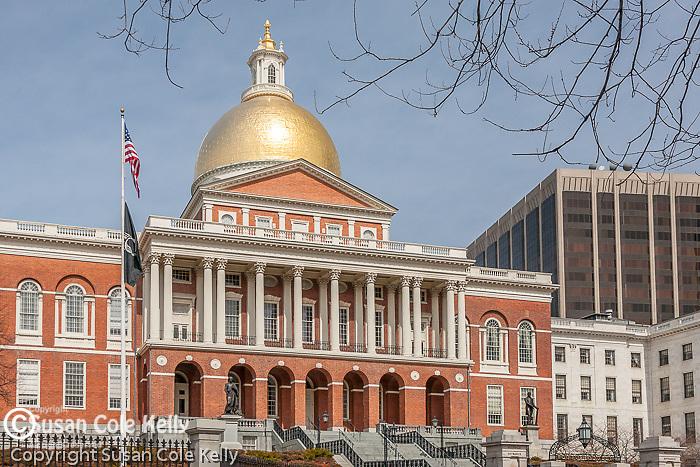 The Massachusetts State House on the Freedom Trail, Boston National Historical Park, Boston, MA