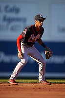 Peoria Chiefs shortstop Oscar Mercado (4) during a game against the Lansing Lugnuts on June 6, 2015 at Cooley Law School Stadium in Lansing, Michigan.  Lansing defeated Peoria 6-2.  (Mike Janes/Four Seam Images)