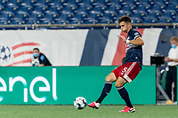 FOXBOROUGH, MA - AUGUST 21: Collin Verfurth #35 of New England Revolution II passes the ball during a game between Richmond Kickers and New England Revolution II at Gillette Stadium on August 21, 2020 in Foxborough, Massachusetts.