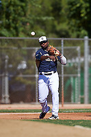 San Diego Padres Carlos Belen (5) during an instructional league game against the Texas Rangers on October 9, 2015 at the Surprise Stadium Training Complex in Surprise, Arizona.  (Mike Janes/Four Seam Images)